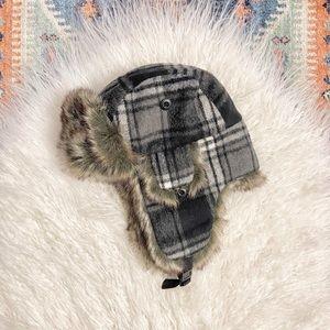 {appaman} faux fur plaid trapper hat boys toddler